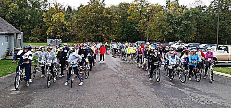 adventure race bike start