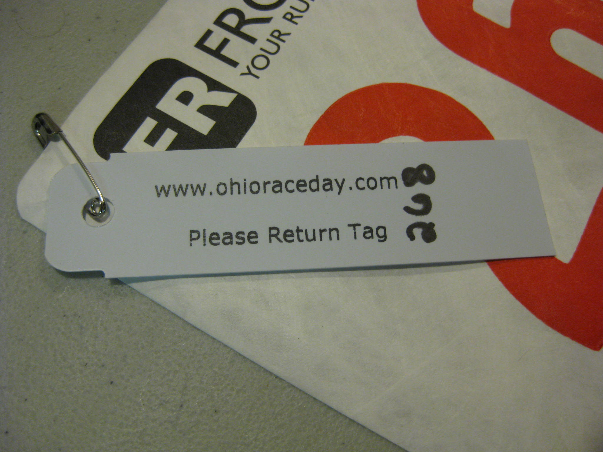 rfid tag and bib