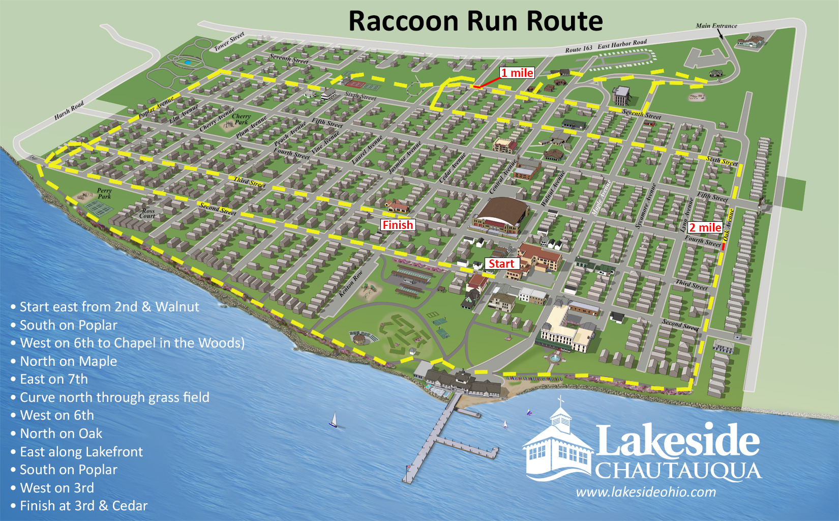 5k raccoon run one mile fun run course map publicscrutiny Image collections